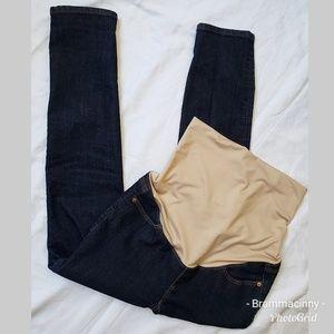 LOFT Maternity Dark Wash Denim Skinny Jeans